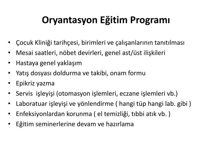 Oryantasyon Eğitim Programı