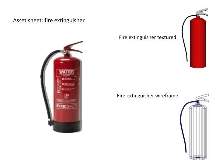 Asset sheet: fire extinguisher