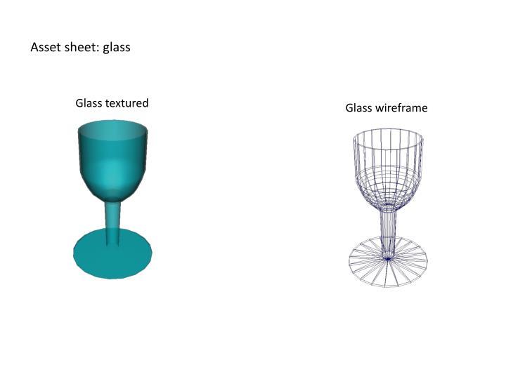 Asset sheet: glass