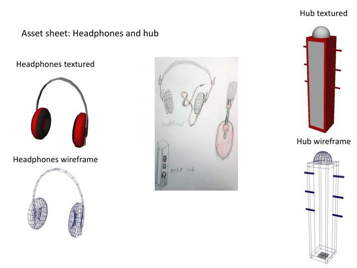 Asset sheet headphones and hub