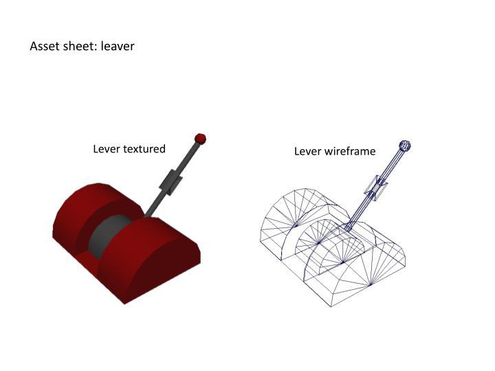 Asset sheet: leaver