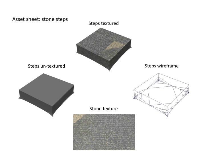 Asset sheet: stone steps