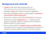 background and rationale