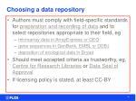 choosing a data repository