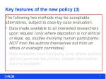 key features of the new policy 3