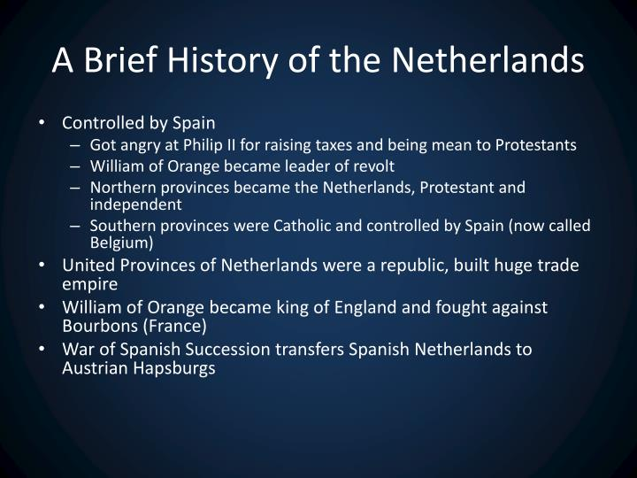 A Brief History of the Netherlands