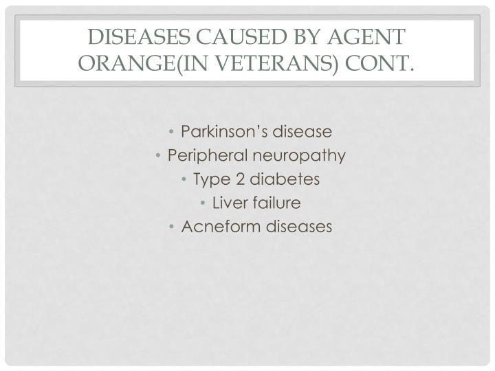 agent orange and liver disease