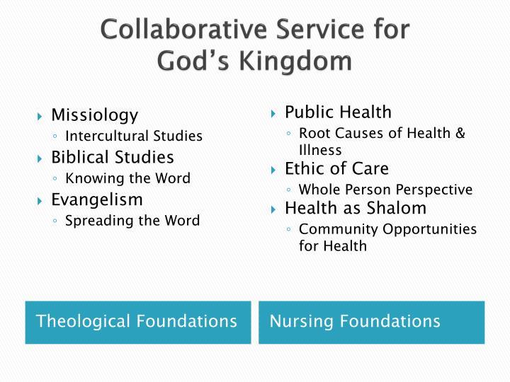 Collaborative service for god s kingdom