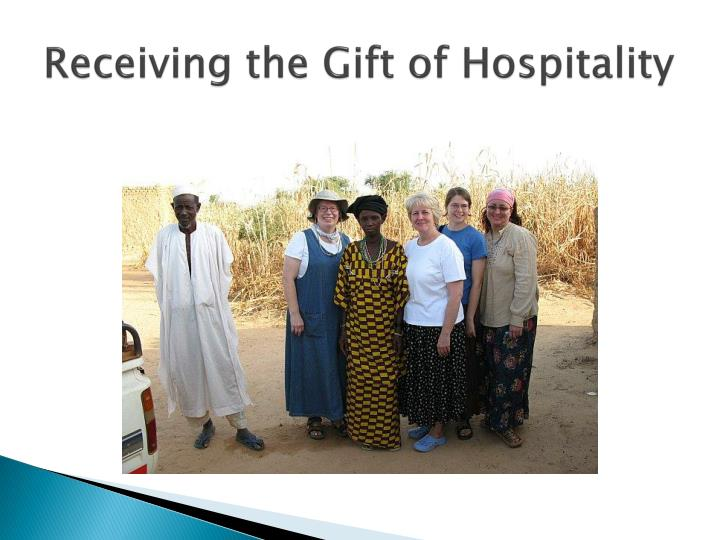 Receiving the Gift of Hospitality