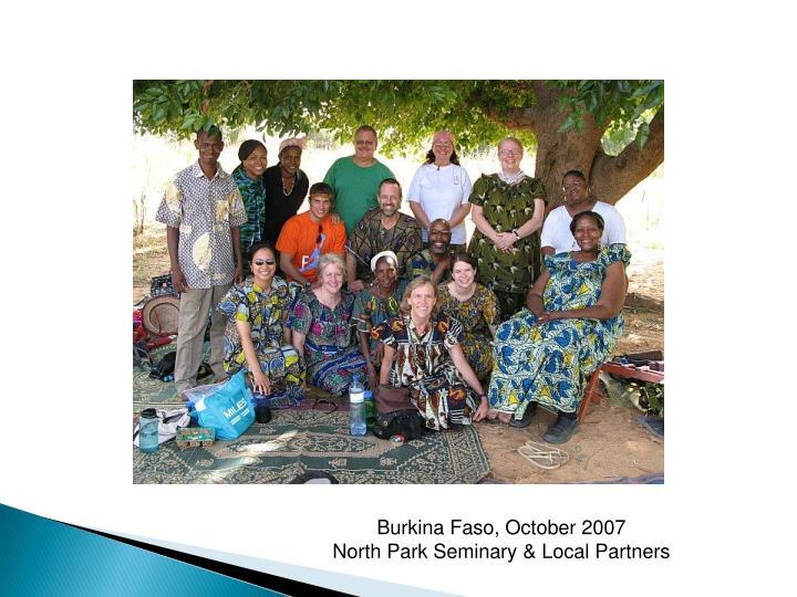 Burkina Faso, October 2007