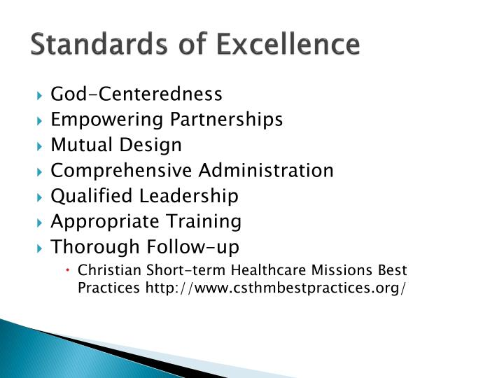 Standards of Excellence