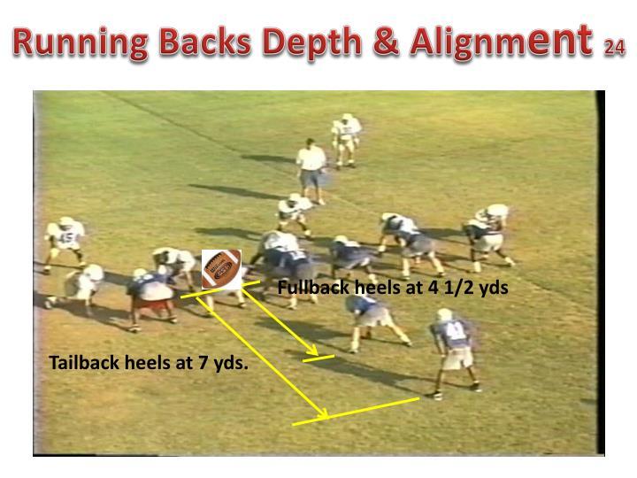 Running Backs Depth & Alignm