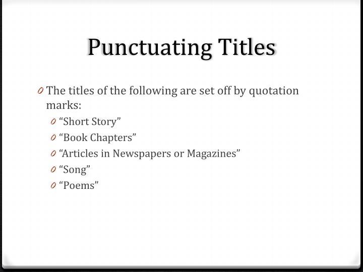 Punctuating
