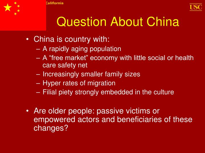 Question About China