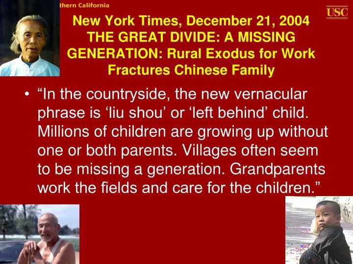 New York Times, December 21, 2004