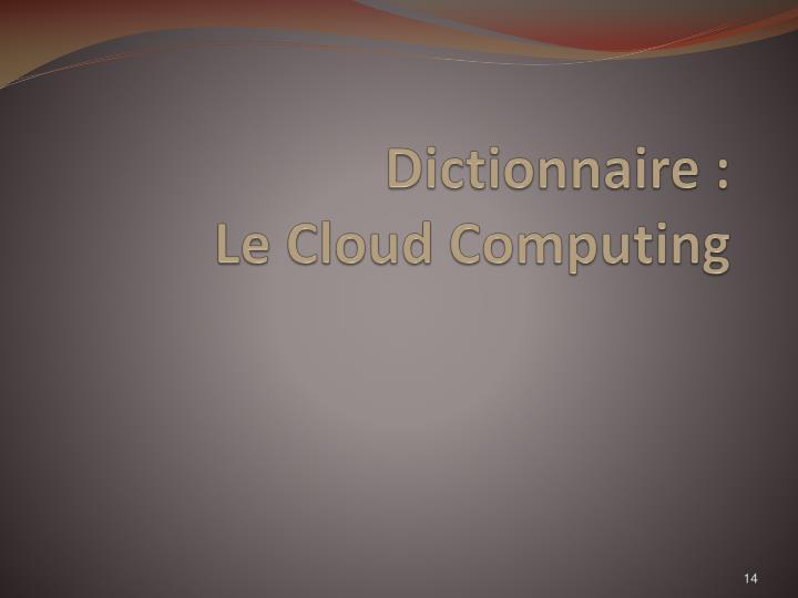 Dictionnaire :
