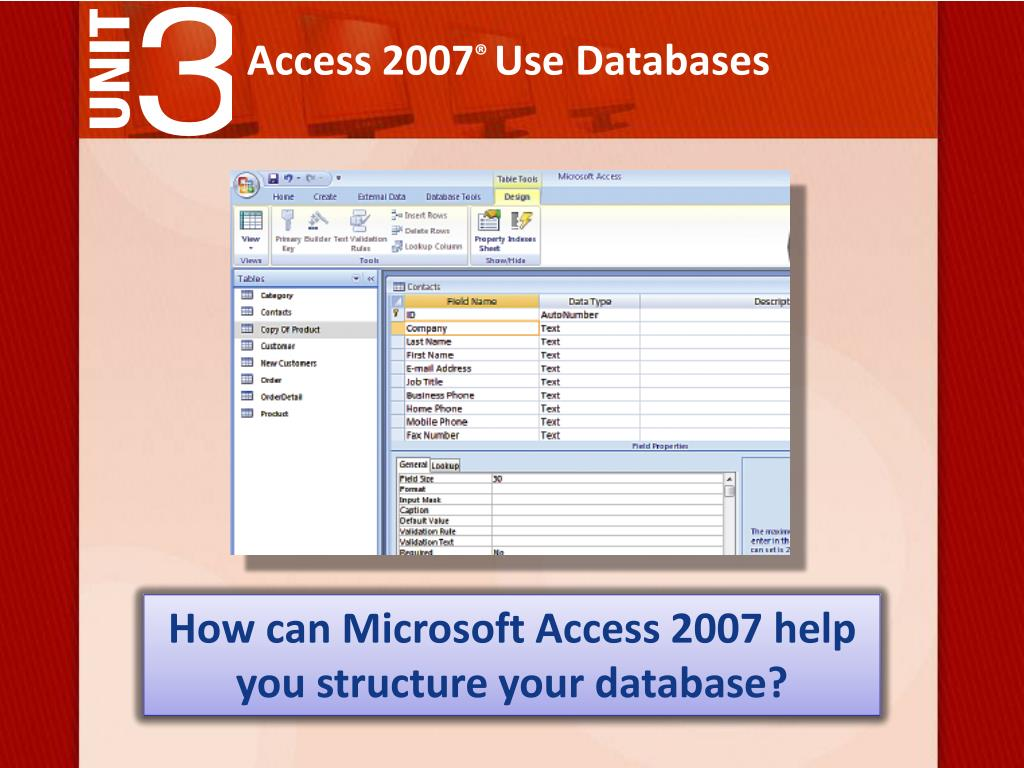 PPT - Access 2007 ® Use Databases PowerPoint Presentation