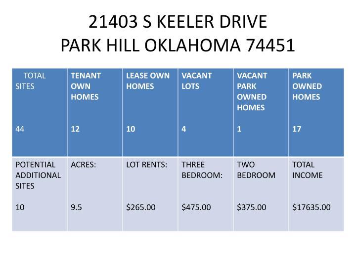 21403 s keeler drive park hill oklahoma 74451