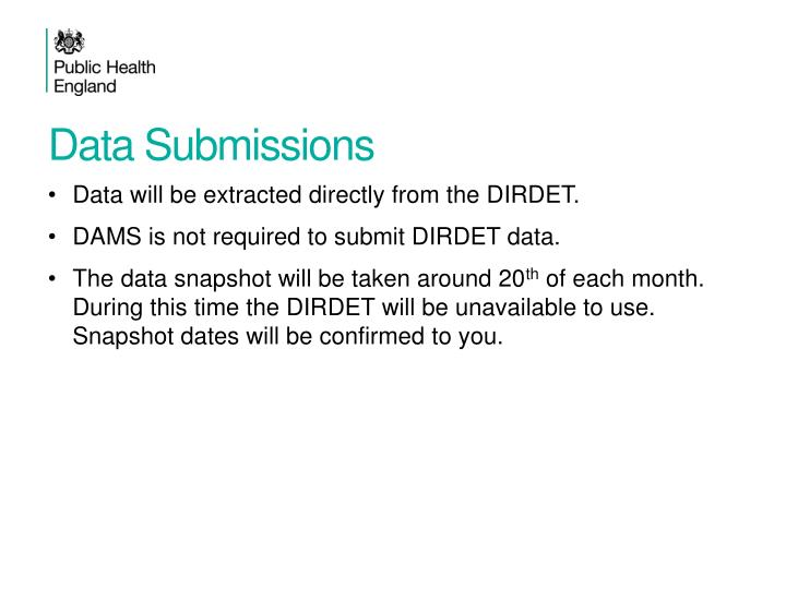Data Submissions