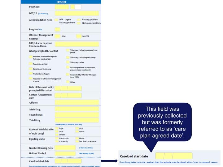 This field was previously collected but was formerly referred to as 'care plan agreed date'.