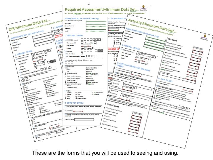 These are the forms that you will be used to seeing and using.