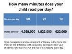 how many minutes does your child read per day