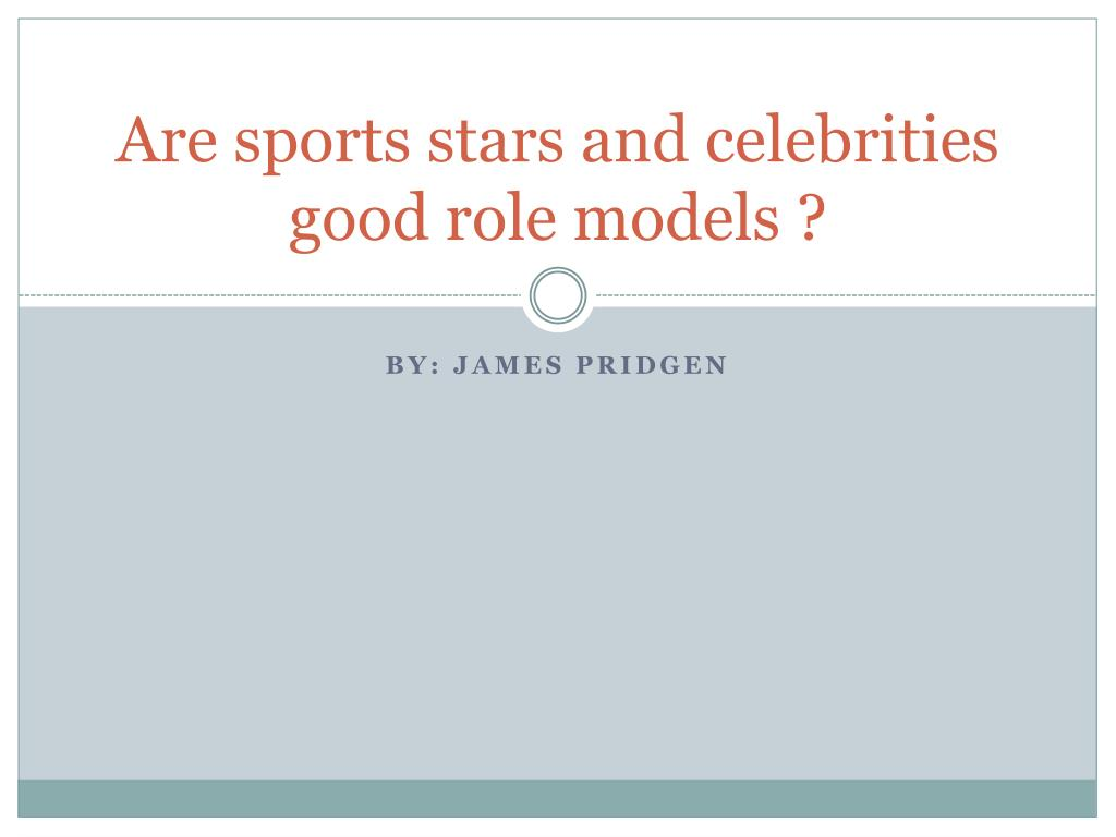 Athletes as role models essay
