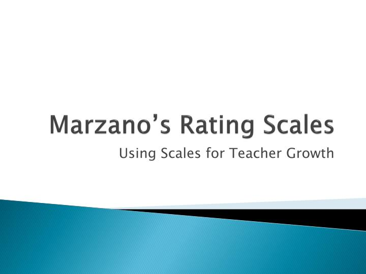 marzano s rating scales n.