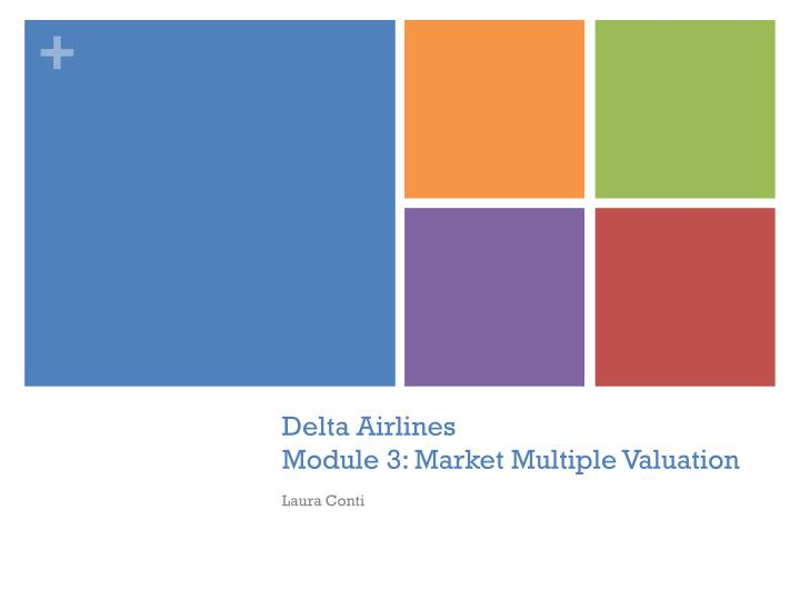 Delta airlines module 3 market multiple valuation