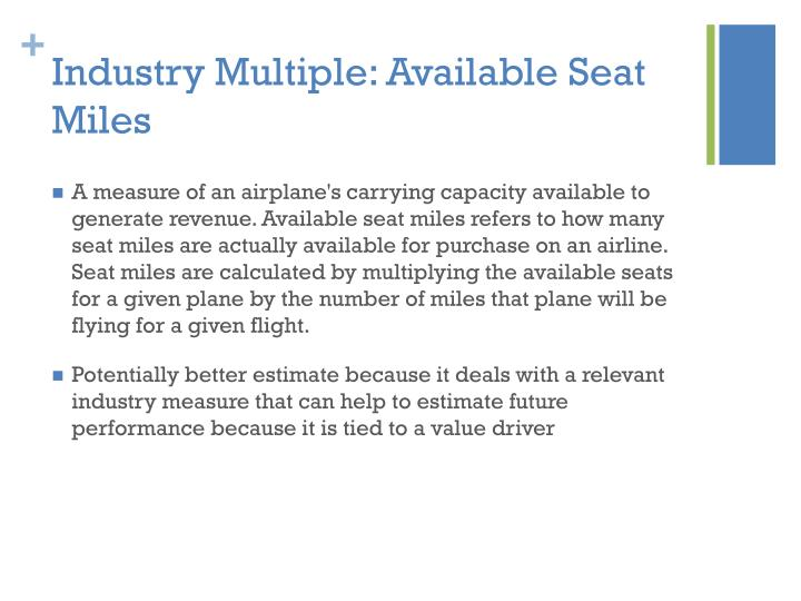 Industry Multiple: Available Seat Miles