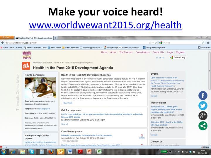 Make your voice heard!