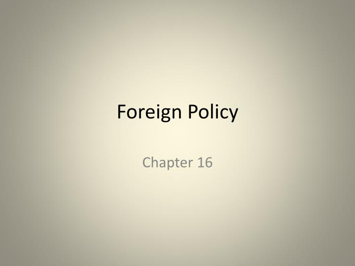 foreign policy n.