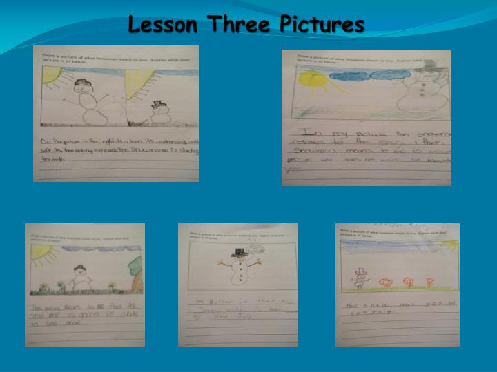Lesson Three Pictures