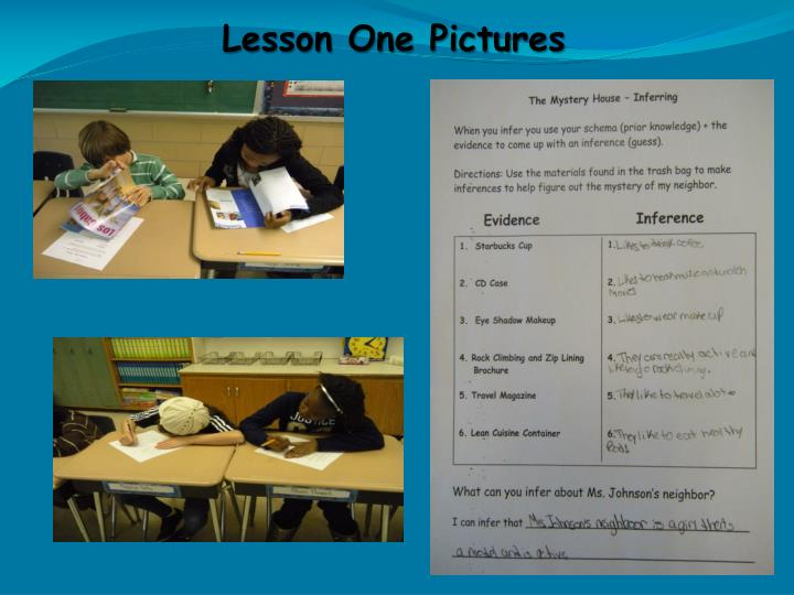 Lesson One Pictures