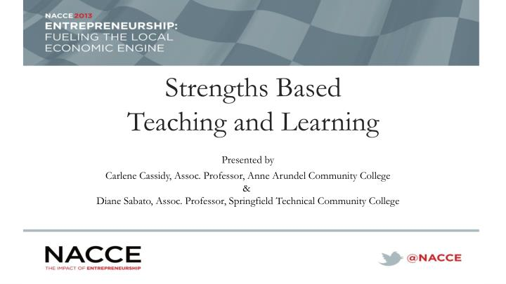 strengths based teaching and learning
