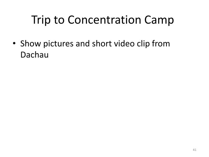 Trip to Concentration Camp
