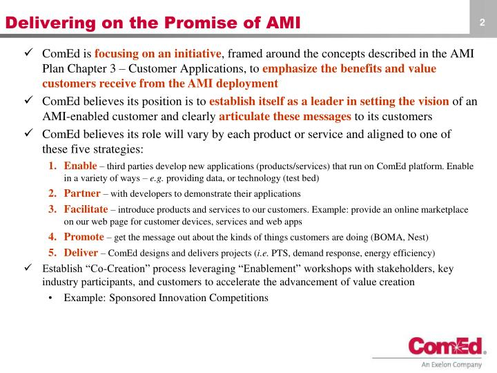 Delivering on the promise of ami