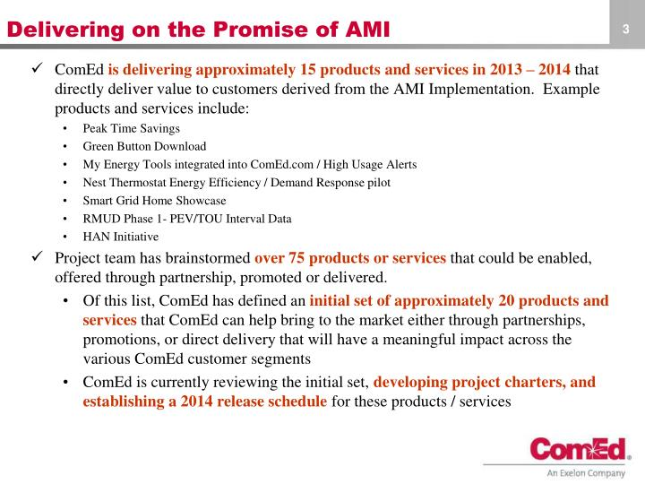 Delivering on the promise of ami1