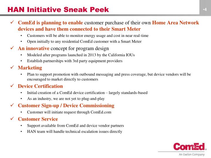 HAN Initiative Sneak Peek