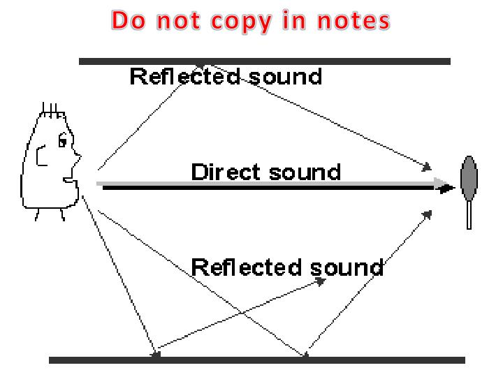 Do not copy in notes
