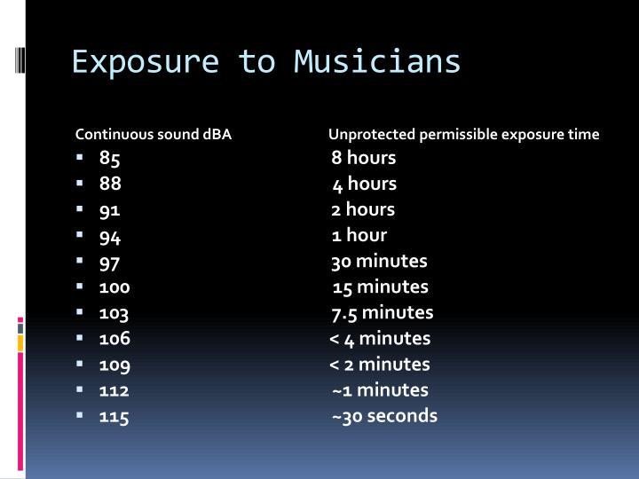 Exposure to Musicians