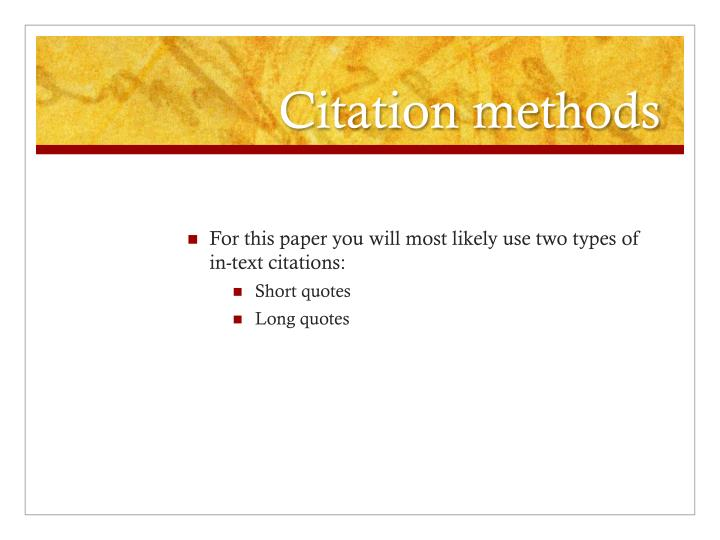 Citation methods