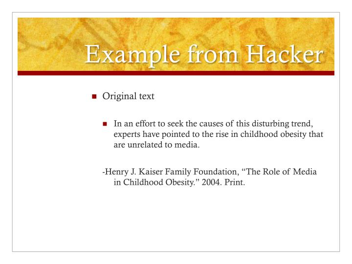 Example from Hacker