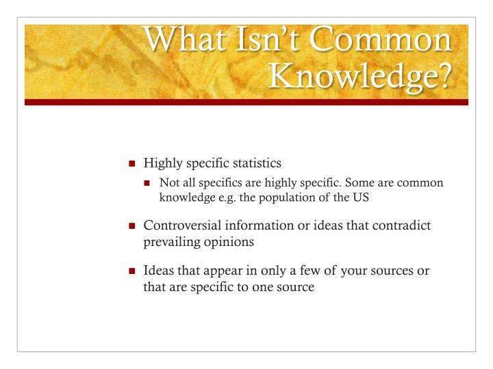 What Isn't Common Knowledge?