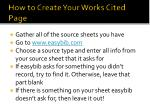 how to create your works cited page