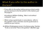 what if you refer to the author in the text