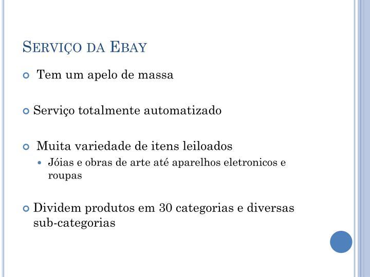 Servi o da ebay