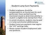 student lump sum payments