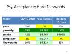 psy acceptance hard passwords