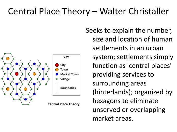 Central Place Theory – Walter